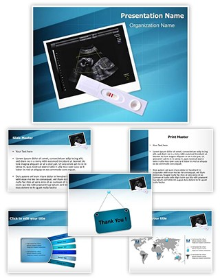 Pregnancy Test Positive Editable PowerPoint Template