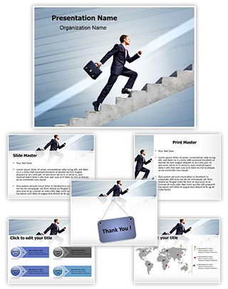 Promotion Ladder Editable PowerPoint Template