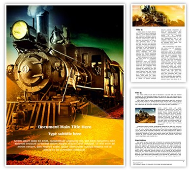 Steam Engine Editable Word Document Template