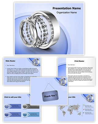 Ball Bearing Parts Editable PowerPoint Template