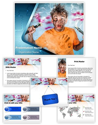 Electric Shock Editable PowerPoint Template