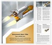 Space Shuttle Editable Word Template