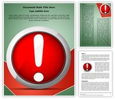 Error Message Exclamation Mark Template