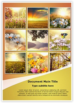 Summer Flower Collages Editable Word Template