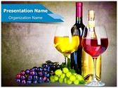 Grapes Wine PowerPoint Templates