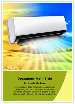 Air Conditioning Editable Word Template