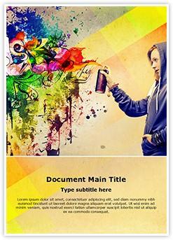 Graffiti Editable Word Template