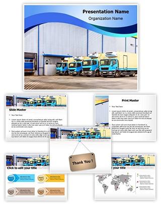 Warehouse Truck Editable PowerPoint Template