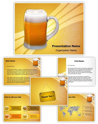 Appetizing Beer Glass Editable PowerPoint Template