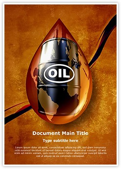 Oil Drop Editable Word Template