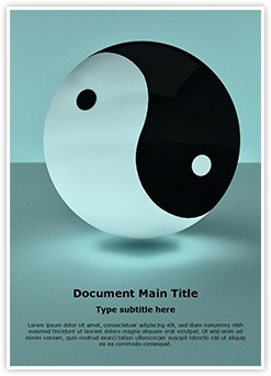 Yin Yang Editable Word Template