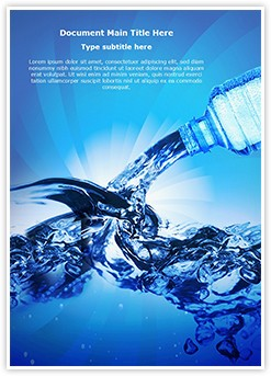 Bottled Water Editable Word Template