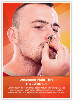 Hash Joint Smoking Editable Word Template