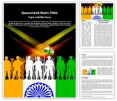 Indian Army Editable Word Template
