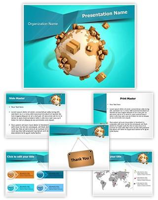 Global Shipment Editable PowerPoint Template