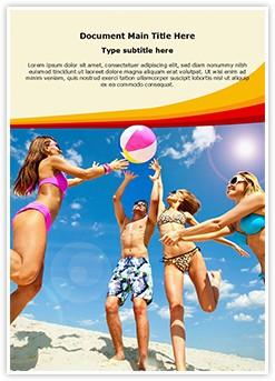 Beach Fun Editable Word Template
