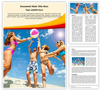 Beach Fun Editable Word Document Template