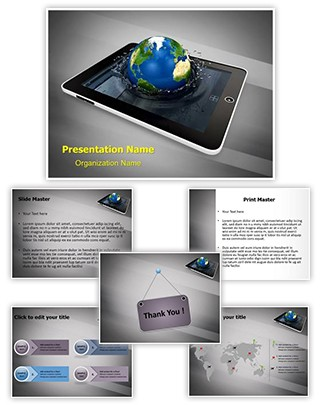 Tab Global Communication Editable PowerPoint Template