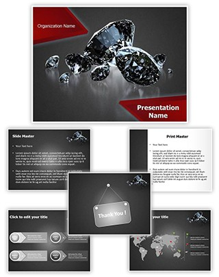 Shiny Diamonds Editable PowerPoint Template