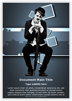 Charlie Chaplin Editable Word Template