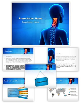 Professional Cervical Spine Anatomy Editable Powerpoint Template