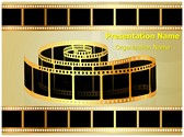 Golden Film Strip Template