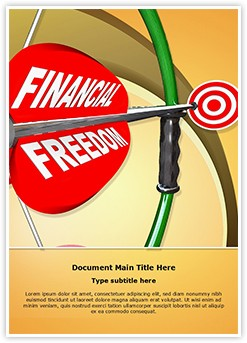 Financial Freedom Editable Word Template