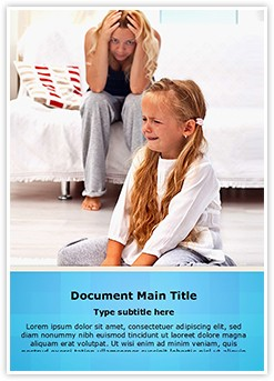 Frustrated Parenting Editable Word Template