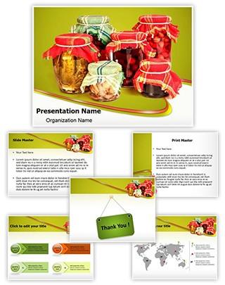 Jar Preserving Editable PowerPoint Template