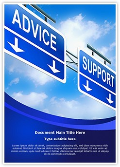 Advice Support Editable Word Template