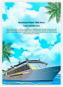 Cruise Ship Editable Word Template