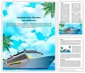 Cruise Ship Editable Word Template