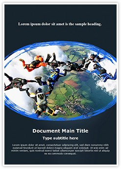 Skydivers Editable Word Template