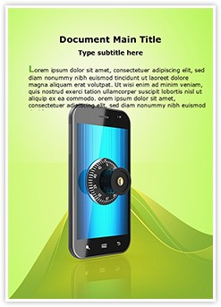 Mobile Security Lock Editable Word Template
