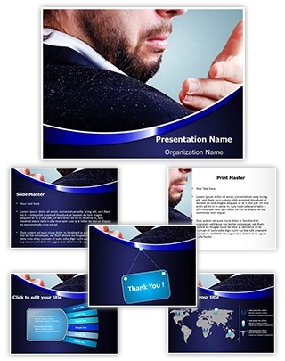 Hair Dandruff Shoulder Editable PowerPoint Template