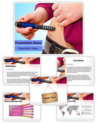Glaucometer Hyperglycemia Editable PowerPoint Template