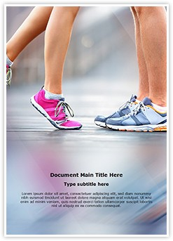 Jogging Workout Training Editable Word Template