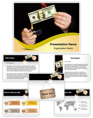 Money Deficiency Editable PowerPoint Template