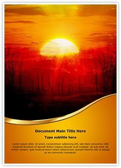 Sunrise Tree Editable Word Template