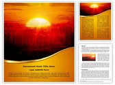 Sunrise Tree Template