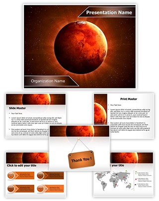 Planet Mars Editable PowerPoint Template