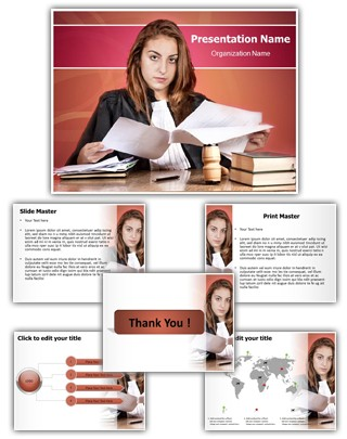 Young Judge Editable PowerPoint Template