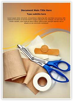 Bandaging Taping Editable Word Template