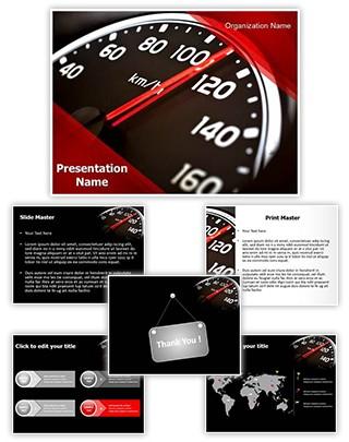 Speeding Editable PowerPoint Template