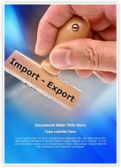 Export Import Editable Word Template