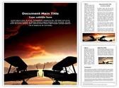 World War Planes Editable Word Template
