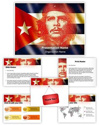 Cuba Che Guevara Editable PowerPoint Template