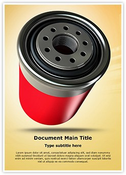 Automobile Filter Editable Word Template