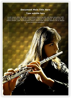 Flutist Editable Word Template
