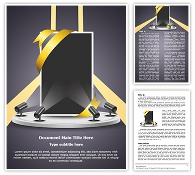 Corporate Presentation Product Promotion Editable Word Document Template